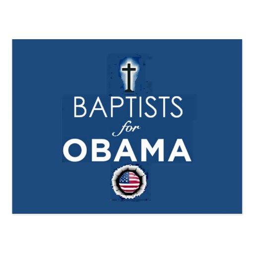 BAPTISTS OBAMA Postcard