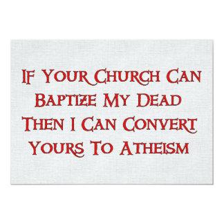 "Baptizing Dead People 5"" X 7"" Invitation Card"