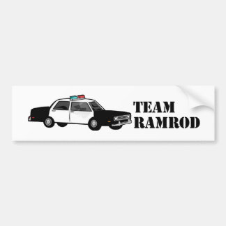 Baqueta de fusil del equipo etiqueta de parachoque