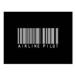 BAR AIRLINE PILOT DARK POST CARDS
