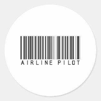 BAR AIRLINE PILOT LIGHT CLASSIC ROUND STICKER