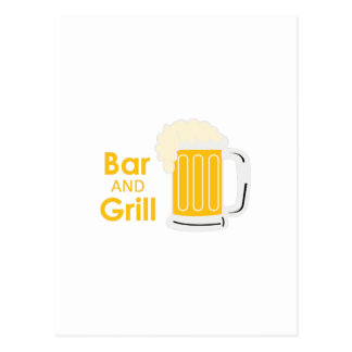 BAR AND GRILL POSTCARD