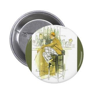Bar Anglais ~ English Bar ~ Pierre Vidal Pinback Button