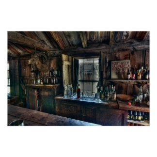 BAR at OLD WEST CRITERION SALOON Poster