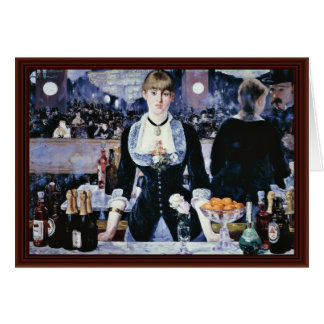 Bar At The Folies-Bergère,  By Manet Edouard Greeting Card