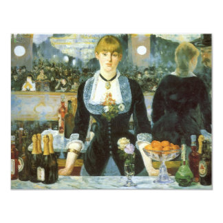 Bar at the Folies Bergere by Manet, Vintage Art Card
