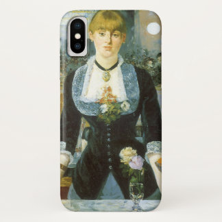 Bar at the Folies Bergere by Manet, Vintage Art iPhone X Case