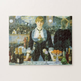 Bar at the Folies Bergere by Manet, Vintage Art Jigsaw Puzzle