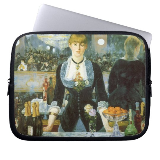 Bar at the Folies Bergere by Manet, Vintage Art Laptop Sleeve