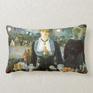 Bar at the Folies Bergere by Manet, Vintage Art Lumbar Pillow