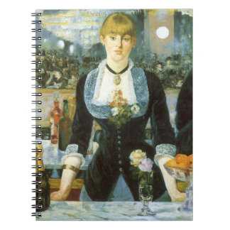 Bar at the Folies Bergere by Manet, Vintage Art Notebook
