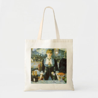 Bar at the Folies Bergere by Manet, Vintage Art Tote Bag