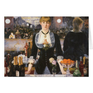 Bar at the Folies Bergère Greeting Card