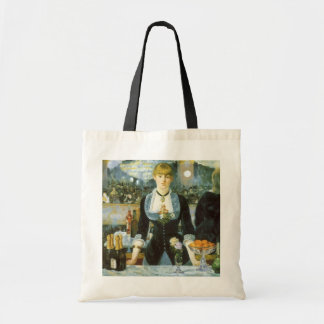 Bar at the Folies-Bergere, Manet, Vintage Fine Art Budget Tote Bag