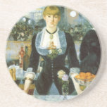 Bar at the Folies-Bergere, Manet, Vintage Fine Art Coaster