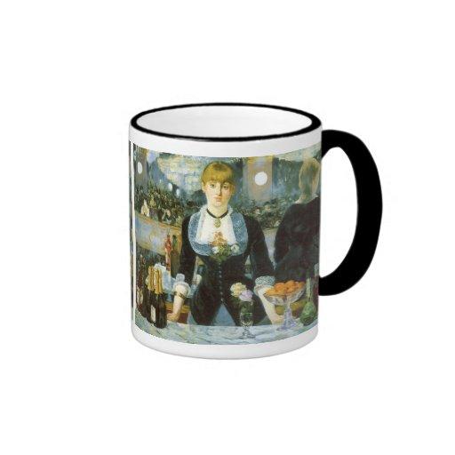 Bar at the Folies-Bergere, Manet, Vintage Fine Art Coffee Mug