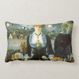Bar at the Folies-Bergere, Manet, Vintage Fine Art Throw Pillow