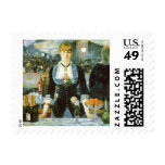 Bar at the Folies-Bergere, Manet, Vintage Fine Art Postage Stamps