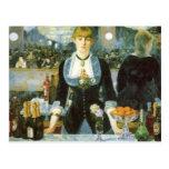 Bar at the Folies-Bergere, Manet, Vintage Fine Art Postcard