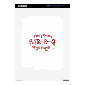 BAR B Q FAMILY REUNION DECALS FOR iPad 3