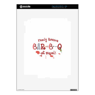 BAR B Q FAMILY REUNION iPad 2 DECAL