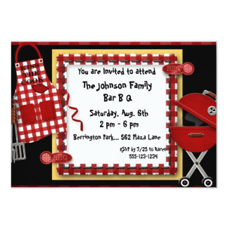 Bar B Q Picnic Party Invitations Announcement