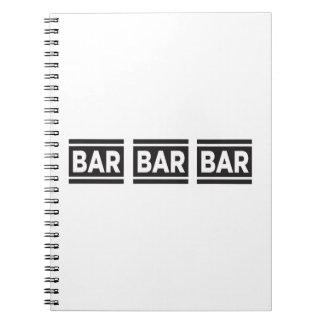 Bar Bar Bar Spiral Notebook