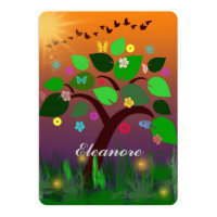 Bar Bat Bnai Tree of Life Mitzvah envelopes incl Card