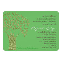 Bar Bat Bnai Tree of Life Mitzvah Invitation
