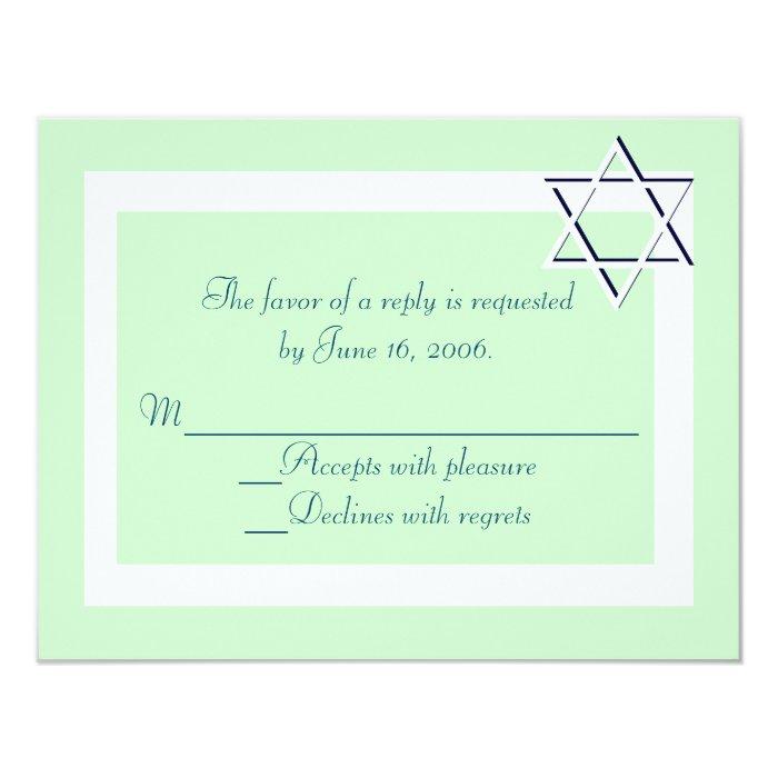 Bar/Bat Mitzvah Invitation RSVP Cards
