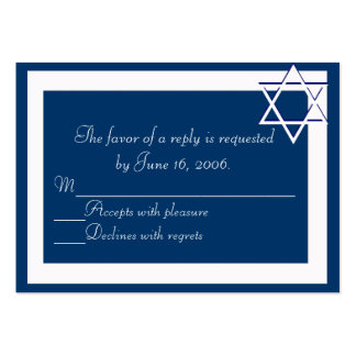 Bar/Bat Mitzvah Invitations Response Card Business Card Templates