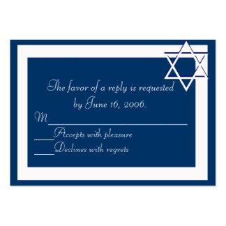 Bar/Bat Mitzvah Invitations Response Card Large Business Card