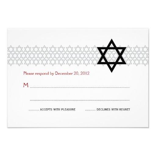 Bar/Bat Mitzvah RSVP Card  3.5 x 5 (back side)