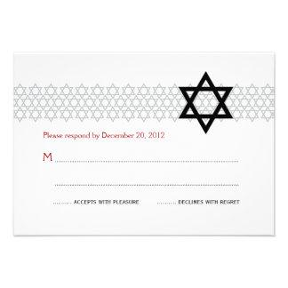 Bar/Bat Mitzvah RSVP Card  3.5 x 5