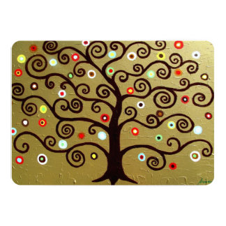 bar bat mitzvah TREE OF LIFE INVITATIONS