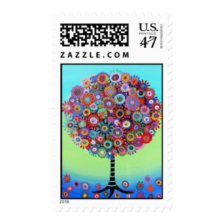 Bar Bat Mitzvah Tree of Life  Postage