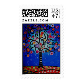 Bar Bat Mitzvah Tree of Life  Stamp