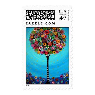 Bar Bat Mitzvah Tree of Life  Stamp