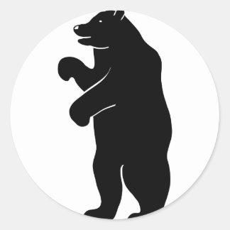 bär bear Berlin grizzly Pegatina Redonda