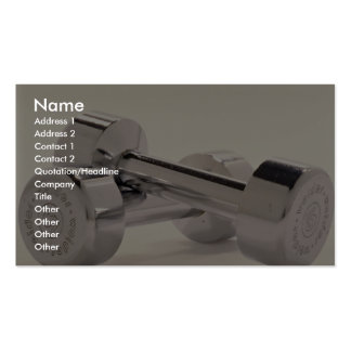 Bar bells for fitness workout Double-Sided standard business cards (Pack of 100)