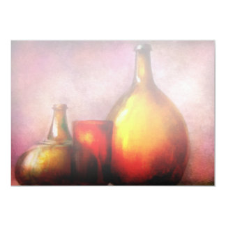Bar - Bottles - A still life of bottles Card