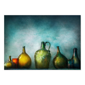 Bar - Bottles - Green bottles Card