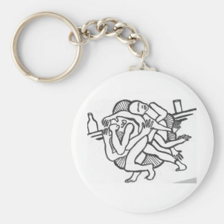 bar brawl_0002 basic round button keychain