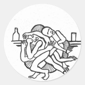 bar brawl_NEW Classic Round Sticker