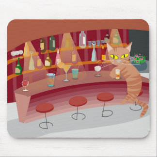 Bar cat mouse pad
