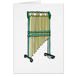 Bar Chimes, Orchestral Chimes, pit percussion 1 Card