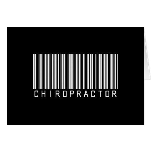 BAR CHIROPRACTOR DARK GREETING CARD