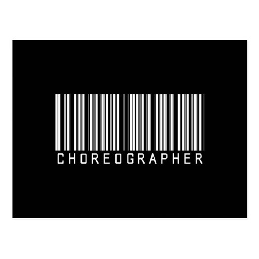 BAR CHOREOGRAPHER DARK POSTCARD