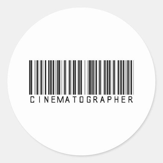 BAR CINEMATOGRAPHER LIGHT CLASSIC ROUND STICKER