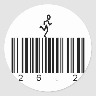 Bar Code 26 2 Round Stickers